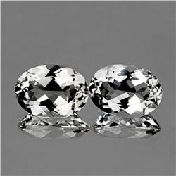 NATURAL BRILLIANT TOP COLORLESS WHITE TOPAZ PAIR