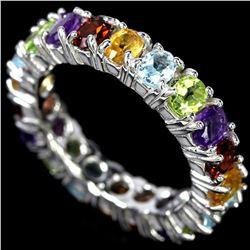 Natural AMETHYST PERIDOT CITRINE TOPAZ Ring
