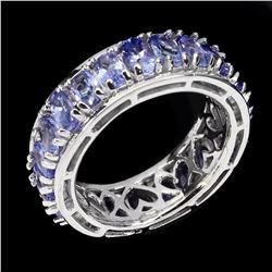 Natural Blue Violet Tanzanite 37.41 ct Ring