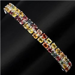 Natural Fancy Colors Sapphire 99.32 Ct Bracelet