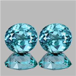 Natural AAA Seafoam Blue Zircon Pair 5.00 Cts - FL