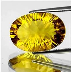 Natural ConCave Cut Golden Yellow Fluorite 21 Ct