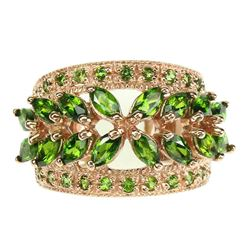 Natural Unheated Marquise Green Chrome Diopside Ring