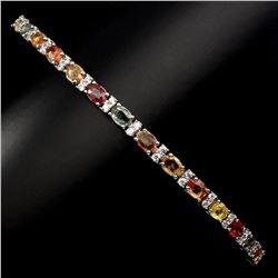 Natural Top Fancy Sapphire Bracelet