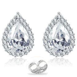 3.25 CENTER  STONE DIAMOND EARRINGS