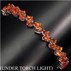 Natural Rich Orange Fire Opal 64.84 Ct Bracelet