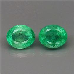 Natural Columbian Emerald Pair 6x5 MM - Untreated