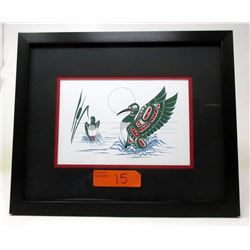 Richard Shorty Framed Print - Loon's Mate