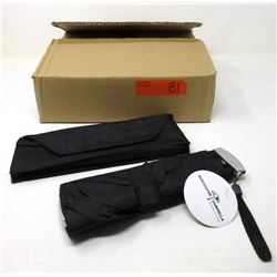 Case of 12 New Slim Black Compact Umbrellas