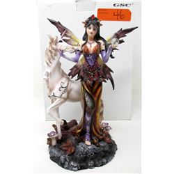 "New 10"" Fairy and Unicorn Statuette with Box"