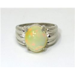 2.84 CT Natural Opal Solitaire Ring
