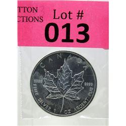 1 Oz .9999 Fine Silver 2010 Canada Maple Leaf Coin
