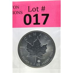 1 Oz .9999 Fine Silver 2016 Canada Maple Leaf Coin