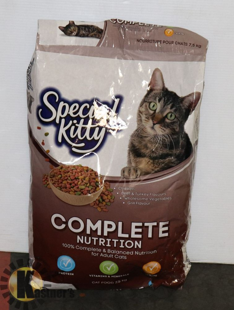 7.5 KG BAG OF SPECIAL KITTY CAT FOOD, BB: MAY 2021