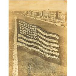 Mole and Thomas 'Living Photograph' of the U.S. Flag