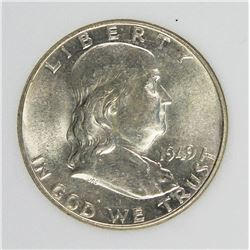 1949 FRANKLIN HALF DOLLAR