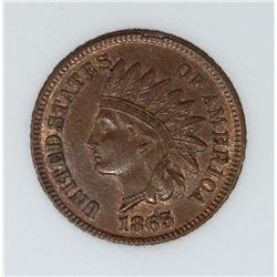 "1865 INDIAM CENT ""FANCY 5"""