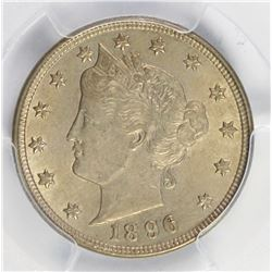 1896 LIBERTY NICKEL CAC