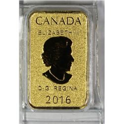 2016 1/10 OZ CANADA GOLD BAR