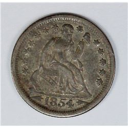 1854 SEATED DIME