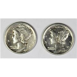 TWO MERCURY DIMES: