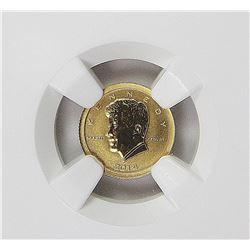 2014 BURUNDI JFK GOLD  .5 GRAM