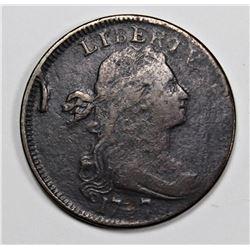 1797 LARGE CENT VF+ STEMLESS, RARE !