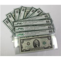 TEN 2003 $2.00 FEDERAL RESERVE NOTES