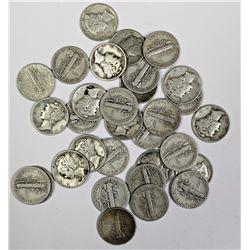 $3.10 FACEVALUE SILVER MERCURY DIMES