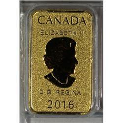 2016 1/10 OZ CANADA GOLD BAR