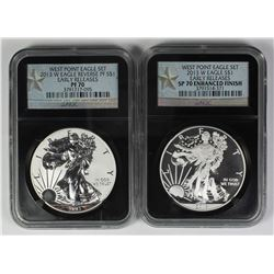TWO PIECE SET 2013-W AMERICAN SILVER EAGLE