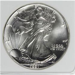 1991 AMERICAN SILVER EAGLE