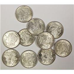 TEN  1921 MORGAN DOLLARS