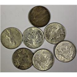 (7) PEACE SILVER DOLLARS