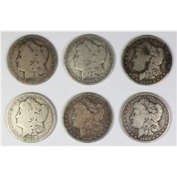 (6) MORGAN SILVER DOLLARS