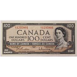 1954 $100.00 CANADA NOTE