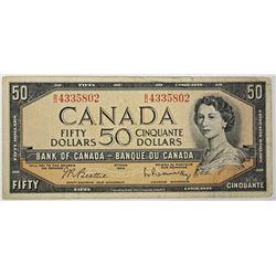 1954 $50.00 CANADA NOTE