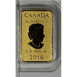 2016 CANADA GOLD BAR