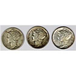 MERCURY DIME LOT: