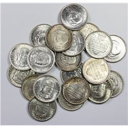 ROLL (20) OF GEM BU COMMEM HALF DOLLARS AS FOLLOWS