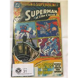 DC Comics Superman in Action Comics No. 689. In Bag on White Board