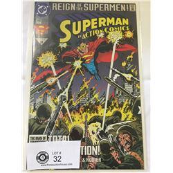 DC Comics Superman in Action Comics No. 690. In Bag on White Board