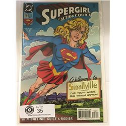 DC Comics Supergirl in Action Comics No. 708  In Bag on White Board