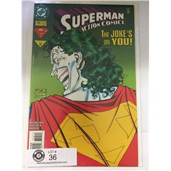 DC Comics Superman in Action Comics No. 714  In Bag on White Board