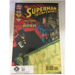 DC Comics Superman in Action Comics No. 719  In Bag on White Board