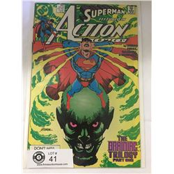 DC Comics Superman in Action Comics No. 647  In Bag on White Board
