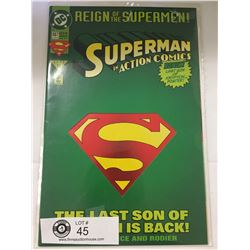 DC Comics Superman in Action Comics No. 687 In Bag on White Board