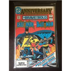 DC Comics Anniversary Issue 200 The Brave and the Bold Starring Batman and Batman in Bag on White Bo