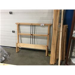 TWIN PINE BEDFRAME (HEADBOARD/FOOTBOARD & RAILS)