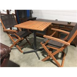 3 PCE BEAUFORT 10 BISTRO SET (TABLE 2' X 2')